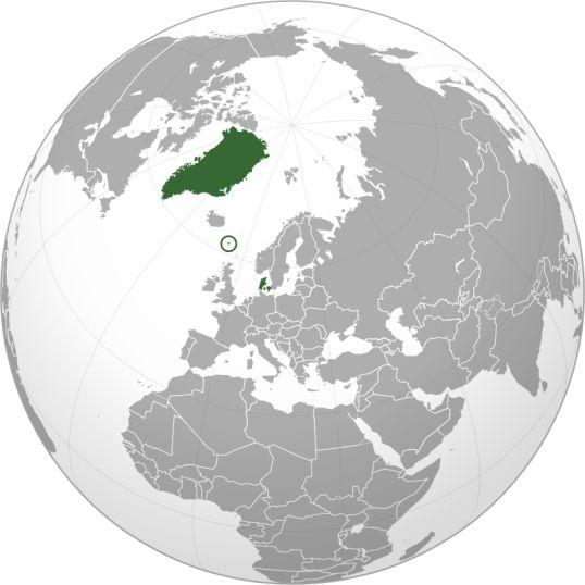 Kingdom of Denmark -dania - xartis -proper