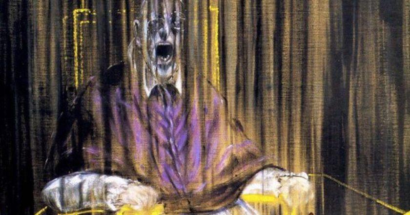 oyrliazon-papas-francis-bacon- Study after Velázquez's Portrait of Pope Innocent X