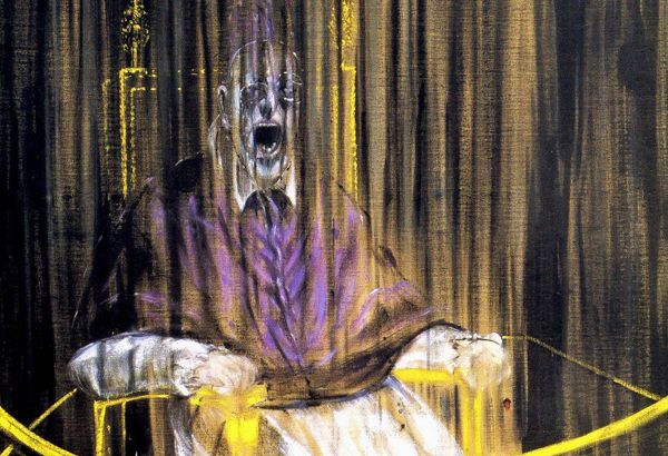 oyrliazon-papas-francis-bacon- Study after Velázquez's Portrait of Pope Innocent X