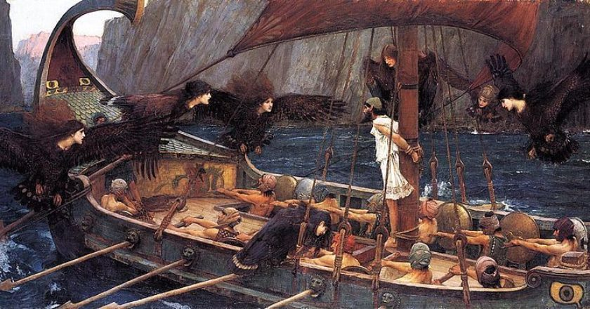 Odysseas-Omiros-arxaia-John_William_Waterhouse-Ulysses_and_the_Sirens_1891