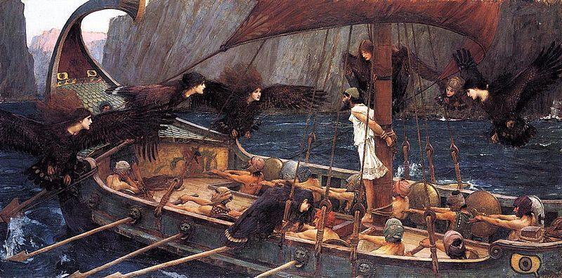 Odysseas-Omiros-arxaia-John_William_Waterhouse-Ulysses_and_the_Sirens_1891