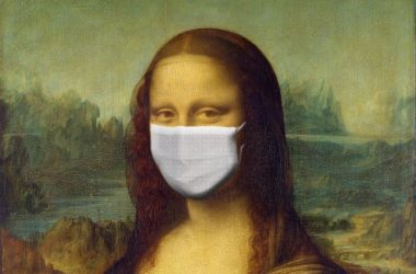 mona-lisa-mask-virus-corona-ios-koronoios