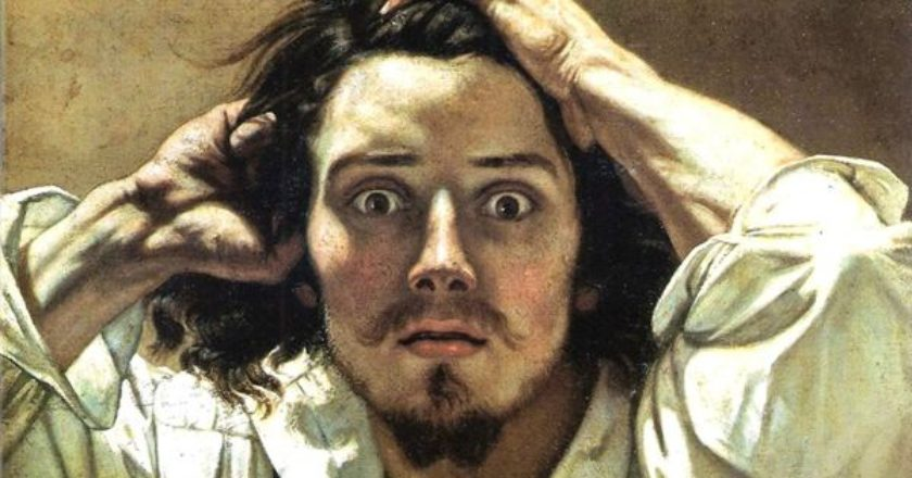 Gustave-Courbet-the-desperate-man-desparation-apognosi-pinakas