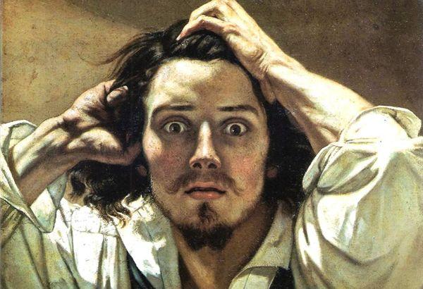 Gustave-Courbet-the-desperate-man-desparation-apognosi-pinakas