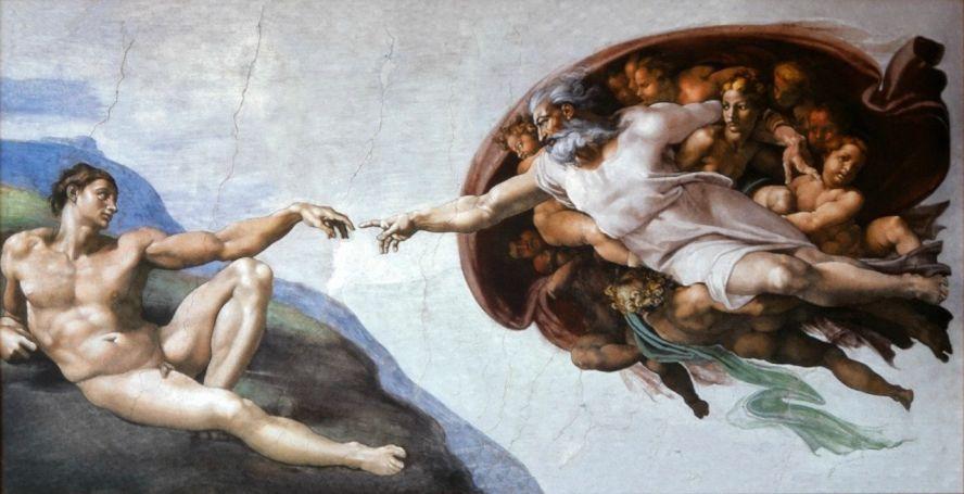 the-creation-of-adam-michelangelo-dimiourgia-theos-anthrwpos-texni-art