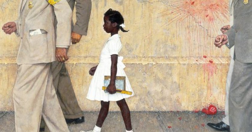 The Problem We All Live With by Norman Rockwell -pinakas-ratsismos-ameriki-1960
